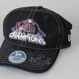 2002 Aneheim Angeles World Series Champions - Bengie Molina Signed WS New Era Cap Hat