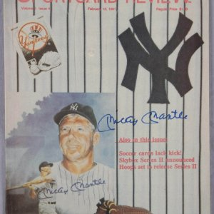 New York Yankees - Mickey Mantle Signed Sport Card Review Magazine - JSA