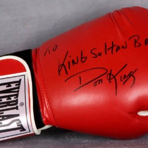 "Don King Signed Everlast Boxing Glove ""To King Sultan Brunel - COA GAI"