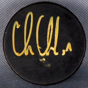 Detroit Red Wings - Chris Chelios Signed Hockey Puck (Signed at Las Vegas Event)