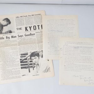 "1969 ""Little Big Man"" - Dustin Hoffman Signed Interview Papers with His Personal Notations For News Article"