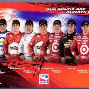 Helio Castroneves Signed Indy Car Promotional Ad - COA