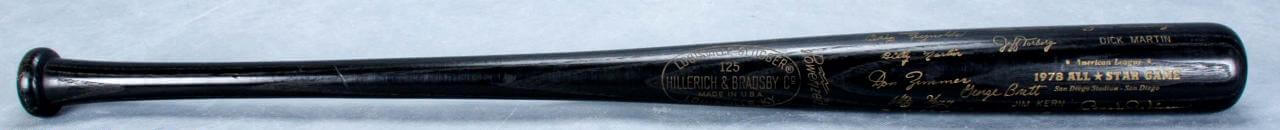 1978 All-Star Game American League Black Bat (San Diego Stadium)