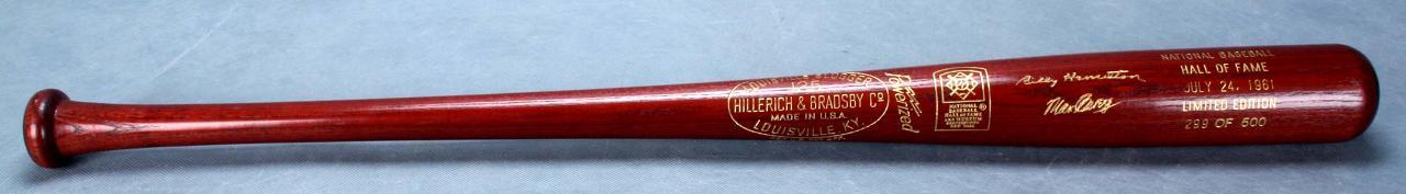 1961 Hall of Fame Limited Edition Brown Bat 299 of 500