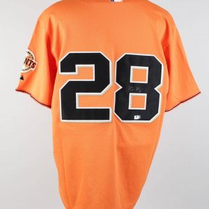 Buster Posey SF Giants Signed Orange Jersey