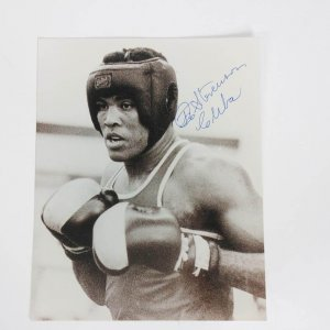 "Teofilo Stevenson Boxer Signed & Inscribed ""Cuba"" 8x10 B&W Photo - JSA"