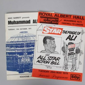 Muhammad Ali - October 19,1971 & May 29, 1979-Royal Albert Hall Programs