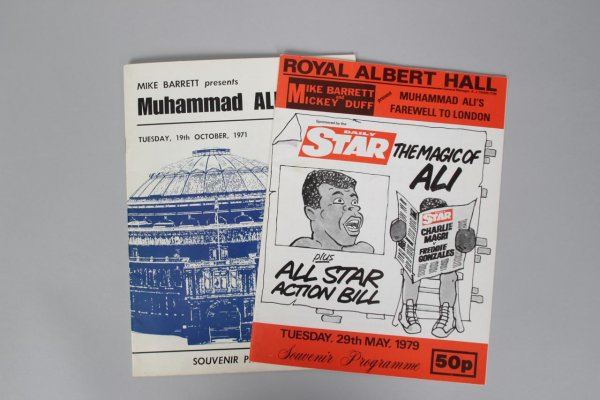 Muhammad Ali October 19th 1971 & May 29 1979 Royal Albert Hall Programs