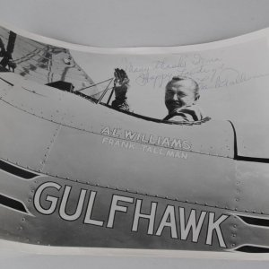Frank Tallman Signed Inscribed  Happy Landings Hollywood Stunt Pilot