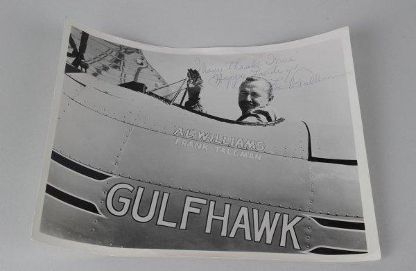 Frank Tallman Signed Inscribed Happy Landings Hollywood Stunt Pilot