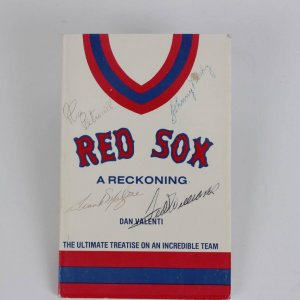 "Red Sox ""A Reckoning"" Signed Book - Ted Williams, Johnny Pesky & Rico Petrocelli- JSA"