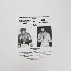 Muhammad Ali Vs Lyle Alzado (11 by 8 1/4) Fight Program From July 14th 1979 Mile High Stadium