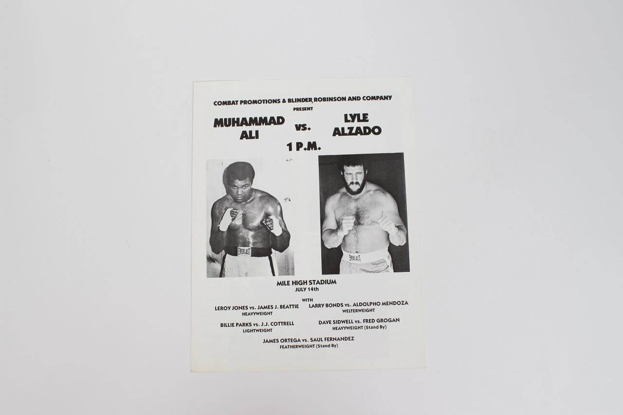 Muhammad Ali Vs Lyle Alzado (11 by 8 1/4) Fight Program From July 14th  1979 Mile High Stadium83296_01_lg