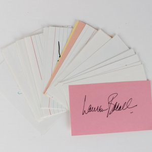 29 3x5 Actor & Actress Index Cards Larry Storch, Fess Parker, Art Linkletter, Art Carney, Lauren Bacall