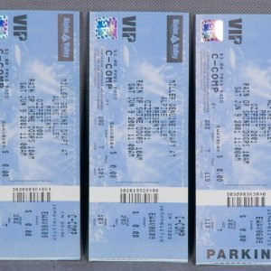 Three 2001 Ozzfest Full Tickets (Alpine Valley)
