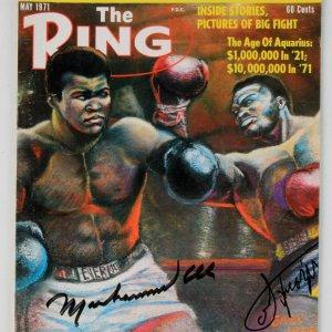 May 1971 - Muhammad Ali & Joe Frazier Signed The Ring Magazine