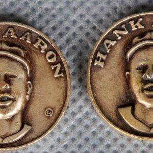 1969 Hank Aaron Vintage Citgo Gas Centennial Series Coins