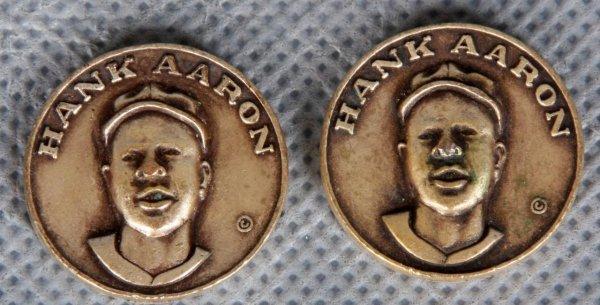 1969 Henry Aaron Vintage Citgo Gas Centennial Series Coins