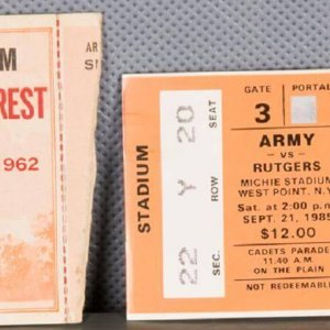 Two Army Ticket Stubs (1962 & 1985)