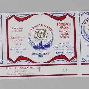 July 6, 1983 All Star Game 50th Anniversary at Comiskey Park Chicago Full Ticket