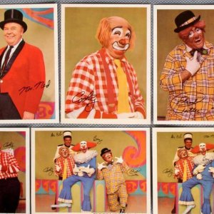 Vintage Bozo The Clown 8 Collector Photo Cards