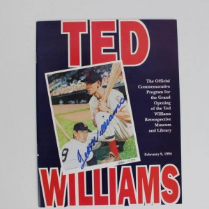 Boston Red Sox Ted Williams Signed February 9, 1994 Ted Williams Museum Hitters Hall Of Fame Book