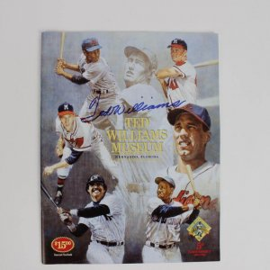 Boston Red Sox Ted Williams Signed 5th Anniversary 1994-1998 Ted Williams Museum Hitters Hall of Fame Souvenir Yearbook