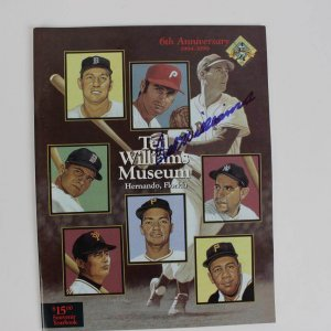 Red Sox- Ted Williams Signed 6th Anniversary 94-99 HOF Yearbook- COA