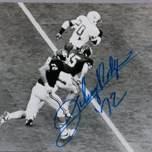 1972 Heisman Trophy Winner - Johnny Rodgers Signed BW 8x10 Photo