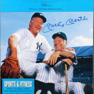 Yankees Mickey Mantle The Advisor Signed Health Care Catalog