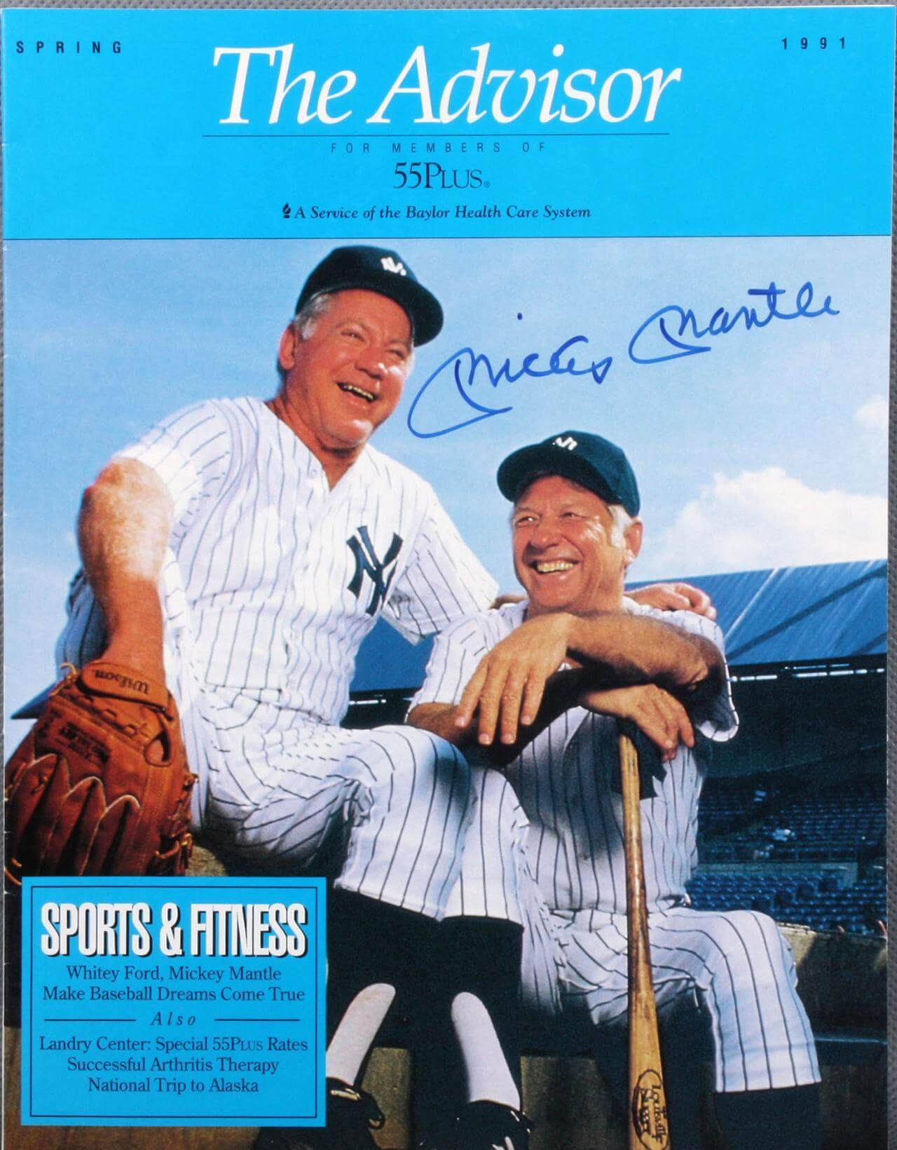 Yankees Mickey Mantle The Advisor Signed Health Care Catalog69813_01_lg