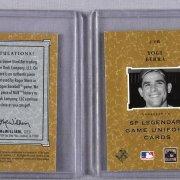 2001 SP Legendary Cuts Game-Worn Cards Roger Maris & Yogi Berra