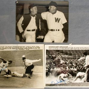 Vintage Washington Senators Signed 8x10 Press Wire Photos - COA
