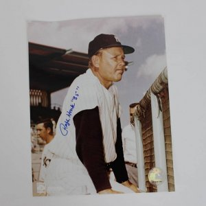 "New York Yankees - Ralph Houk Signed, Inscribed ""35"" 8x10 Photo - COA"