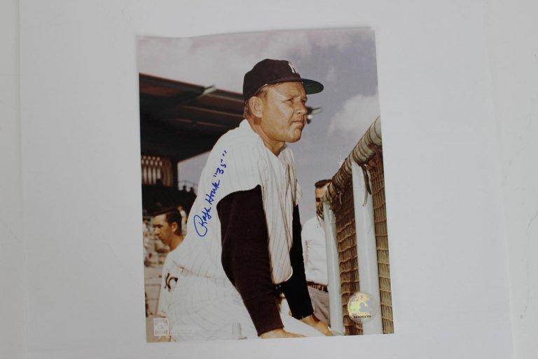 Ralph Houk Signed Photo Yankees - COA