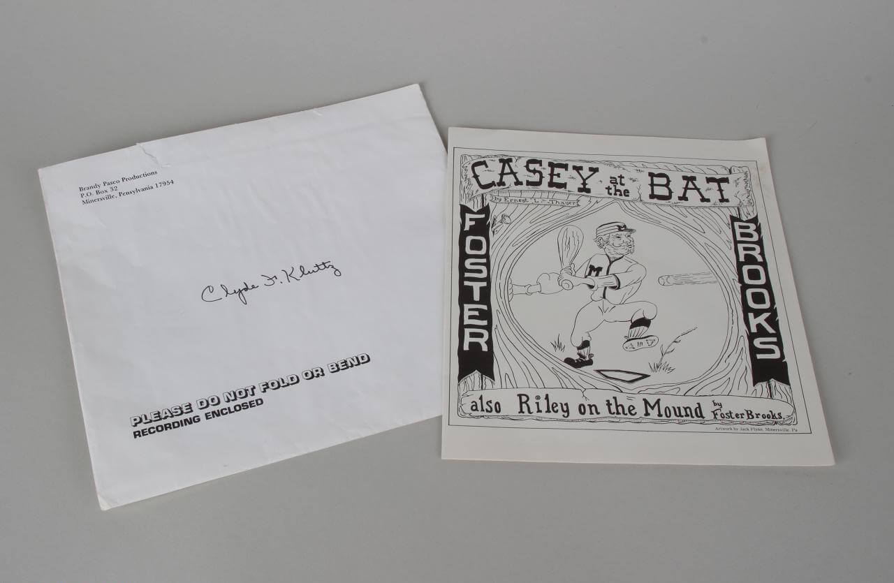 "1978 Record ""Casey at The Bat"" by Foster Brooks w/ ""Riley on The Mound (From Yankee Scout)78657_01_lg"