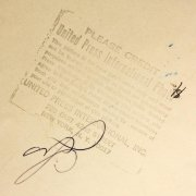 Washington Senators Signed Press Wire Photo Lot - COA