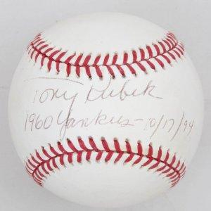 10/17/94 New York Yankees Tony Kubek Signed Baseball