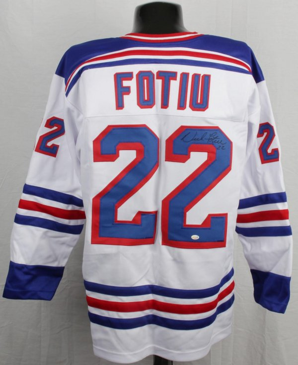 New York Rangers - Nick Fotiu Signed Jersey