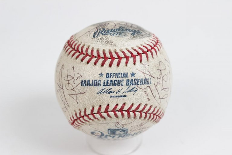 2008 Opening Day Series in Japan - Boston Red Sox Team-Signed Baseball 29 Autographs Incl. David Ortiz, Manny Ramirez, Dustin Pedroia, Clay Bucholtz, Matsuzaka et al. Game-Used vs. Oakland A's