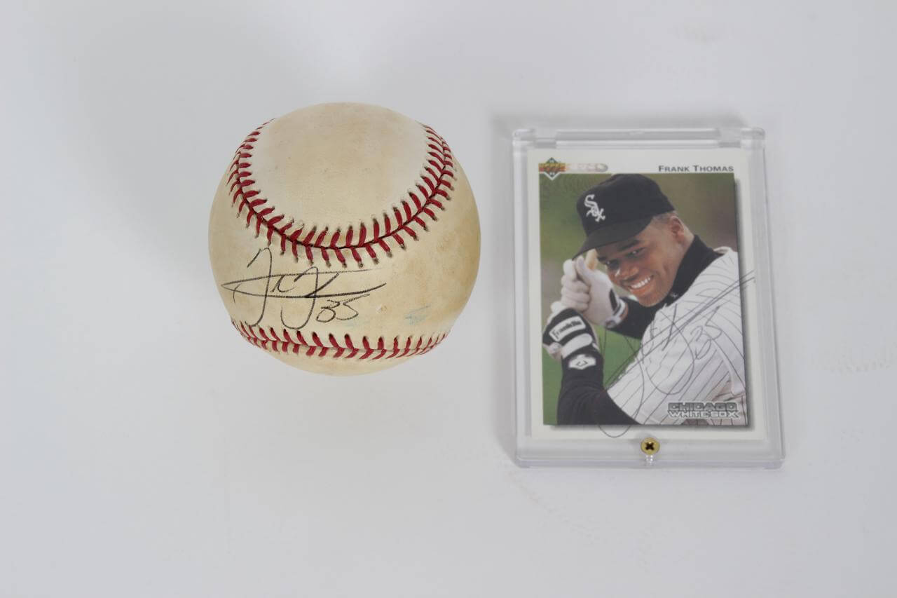 Chicago White Sox Frank Thomas 35 Signed Baseball Card Coa