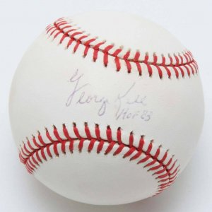 "Tigers - George Kell Signed, Inscribed ""HOF 83"" OAL Baseball"