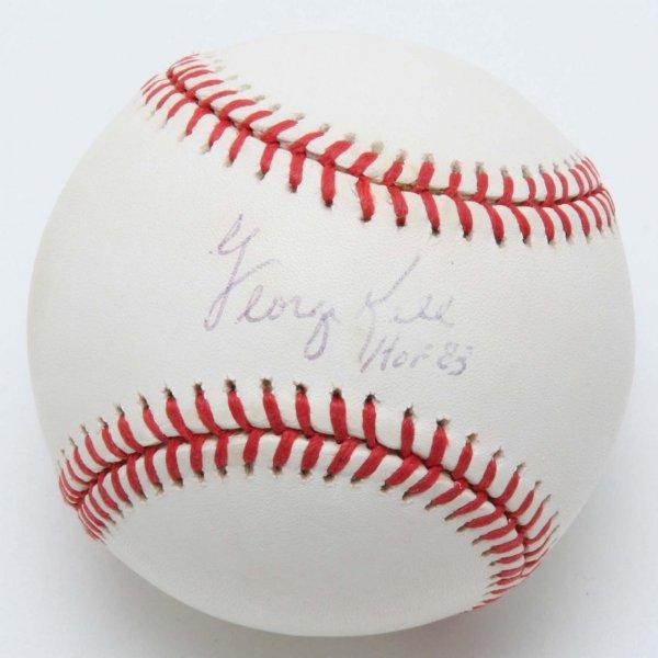 """Tigers - George Kell Signed, Inscribed """"HOF 83"""" OAL Baseball - PSA/DNA"""