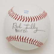 "Cowboys - Bob Lilly Single-Signed, Inscribed ""HOF 80"" Ball"