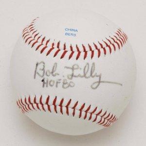 "Cowboys - Bob Lilly Single-Signed, Inscribed ""HOF 80"" Ball"