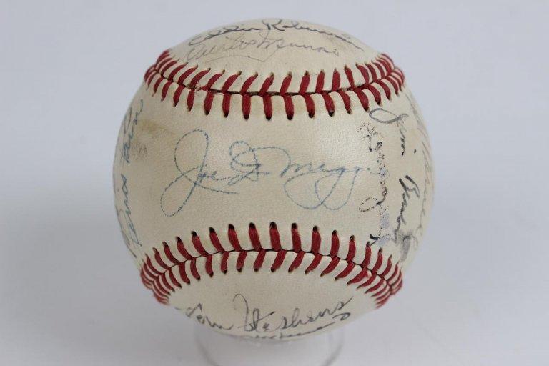 1951 American League All-Stars Team-Signed OAL (Harridge) Baseball 22 Autographs Incl. Ted Williams, Joe DiMaggio, Phil Rizzuto et al.