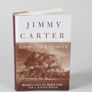 President Jimmy Carter Signed Sources of Strength Hardcover Book