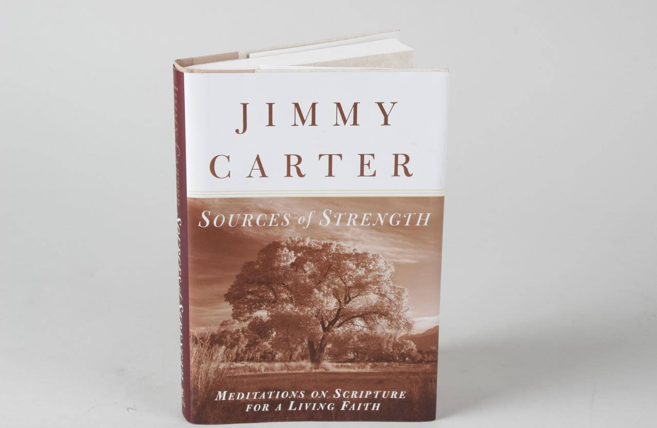 President Jimmy Carter Signed Sources of Strength Hardcover Book79285_01_lg