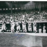 "Pete Rose Autographed 30x40 Inscribed ""1st Game Photo 4-8-63"""
