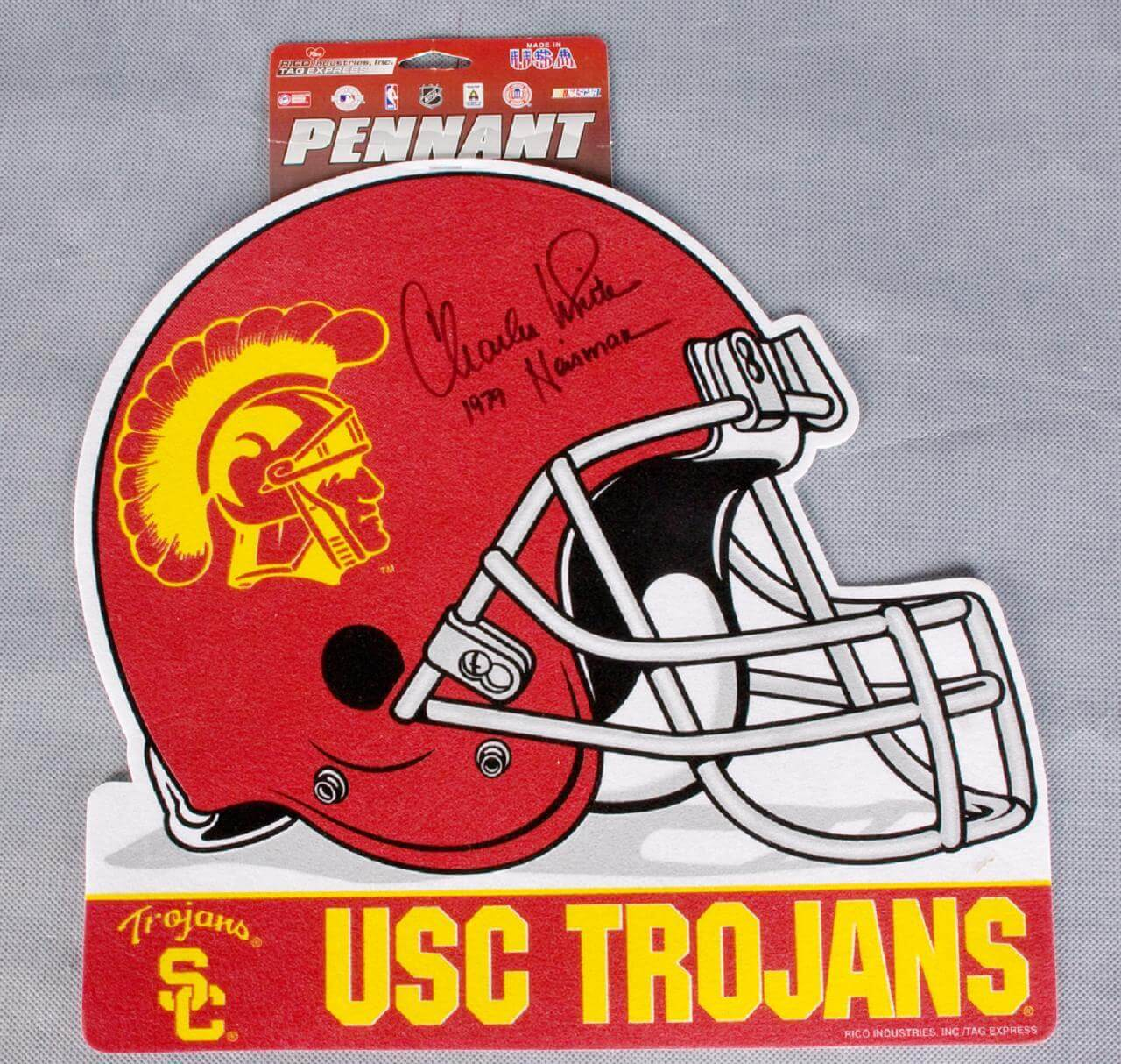 "Charles White Signed USC Pennant ""1979 Heisman""56614_01_lg"